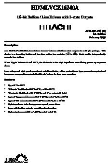 HD74LVCZ16240A image