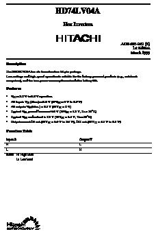HD74LV04A image