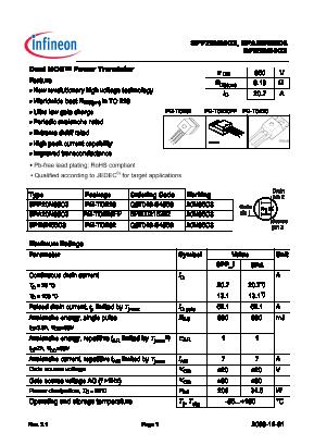SPP20N65C3 image
