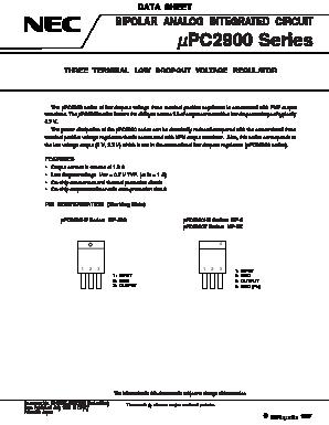 NEC UPC2933HF TO-220 THREE TERMINAL LOW DROPOUT VOLTAGE