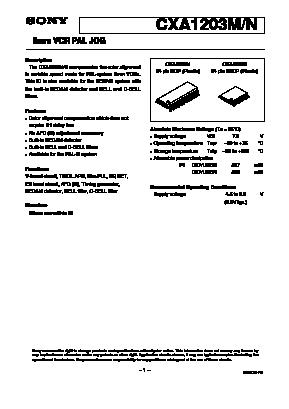 CXA1203N image