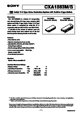 CXA1563S image