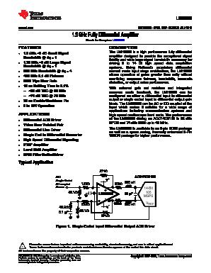 LMH6552SDX image